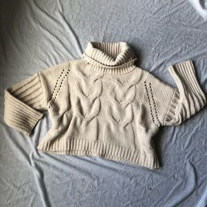 Chunky Knit Cropped Sweater
